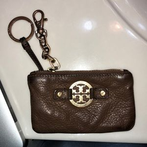 Tory Burch key chain worn